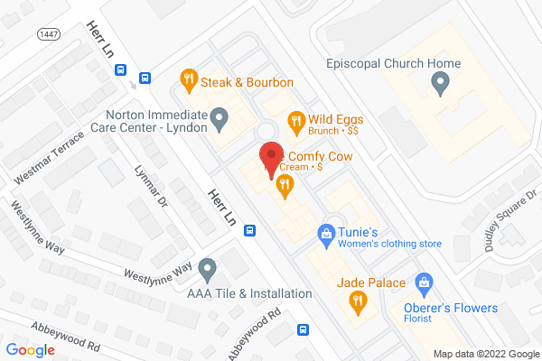 Mapped location of Comfy Cow, The