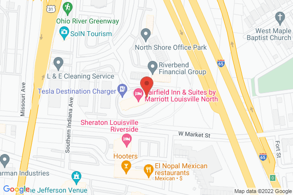 Mapped location of Fairfield Inn & Suites by Marriott Louisville North