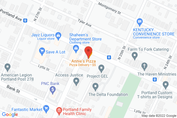 Mapped location of Annie's Pizza