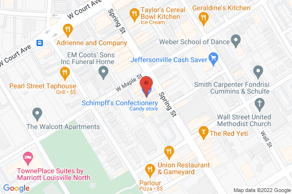 Mapped location of Schimpff's Confectionery