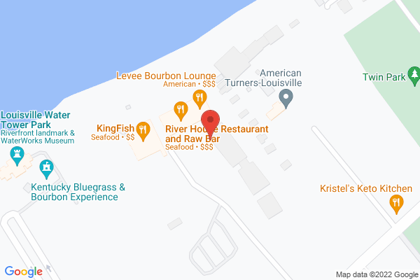 Mapped location of River House Restaurant and Raw Bar