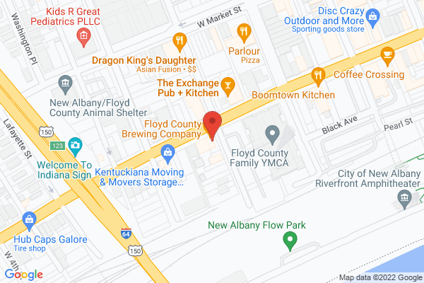 Mapped location of Floyd County Brewing Company