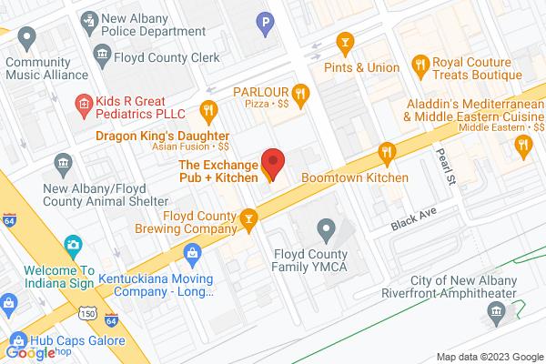 Mapped location of Exchange Pub + Kitchen