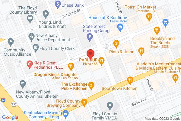 Mapped location of Aladdin's Café