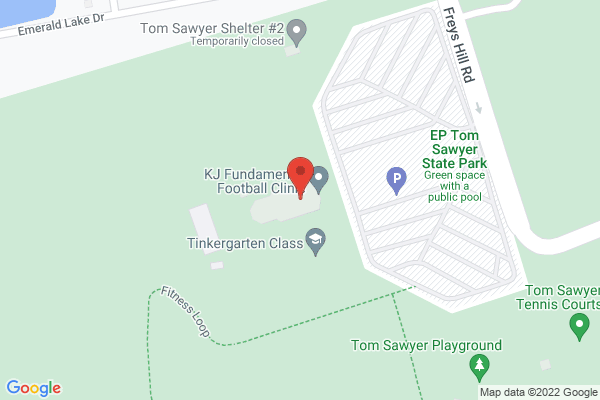Mapped location of EP Tom Sawyer State Park