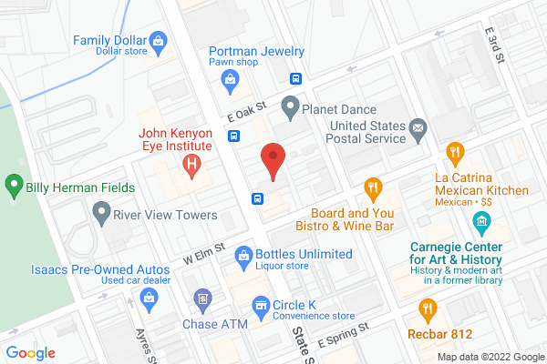 Mapped location of PRIDE bar + lounge