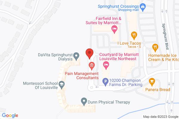 Mapped location of Fairfield Inn & Suites by Marriott Louisville Northeast