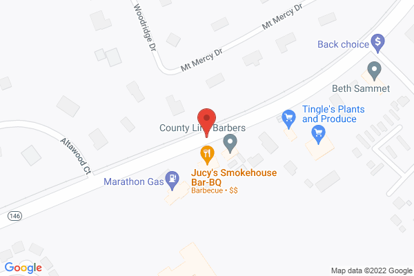 Mapped location of Jucy's Smokehouse Bar-B-Que