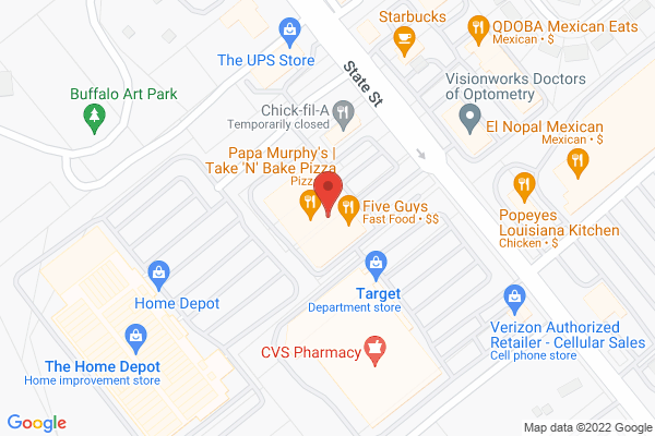 Mapped location of Five Guys Burgers & Fries