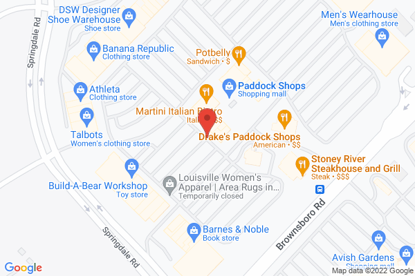 Mapped location of Paddock Shops