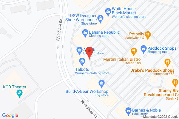 Mapped location of Zoe's Kitchen