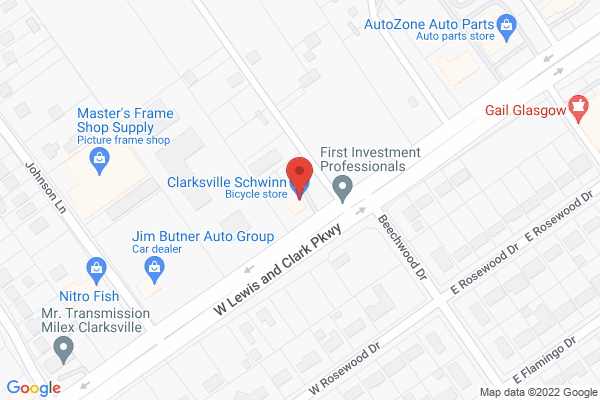 Mapped location of Clarksville Schwinn