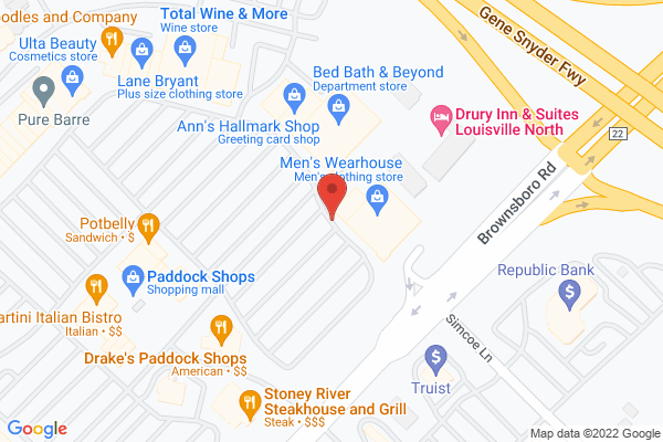 Mapped location of Malone's Prime Louisville