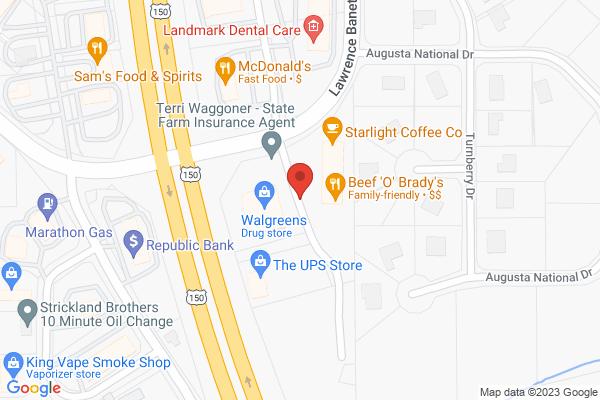 Mapped location of Beef O'Brady's
