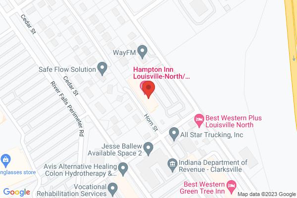 Mapped location of Hampton Inn Louisville - North/Clarksville