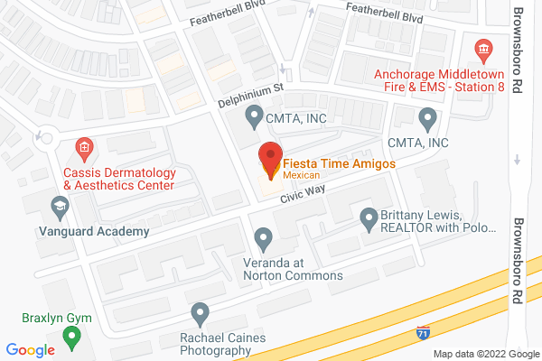 Mapped location of The 502 Bar & Bistro