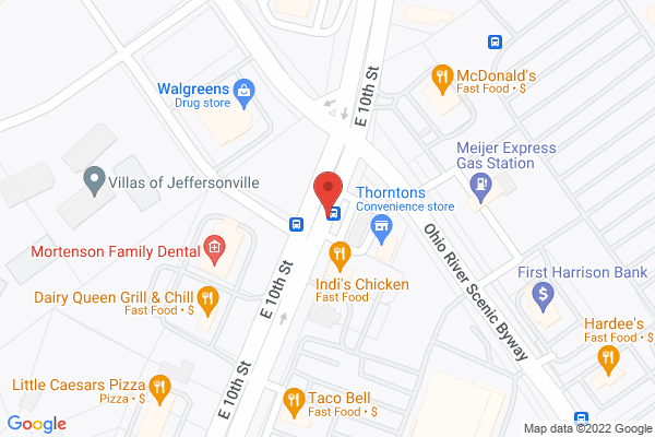 Mapped location of Indi's Restaurant