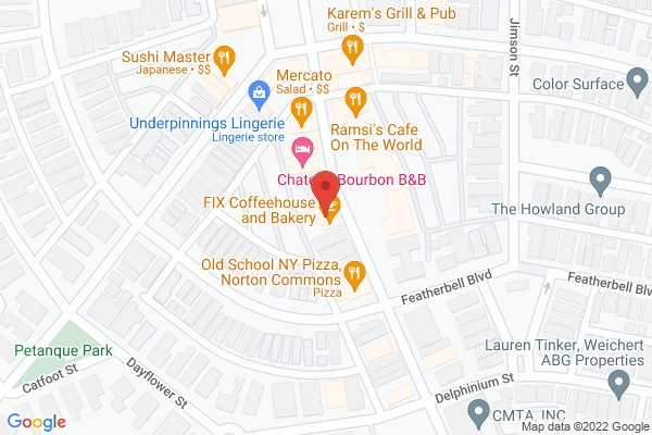 Mapped location of Fix Coffeehouse & Bakery