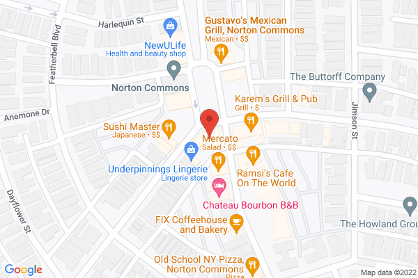 Mapped location of Norton Commons Fall Festival