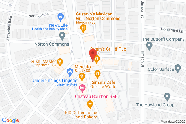 Mapped location of Tea Station Asian Bistro