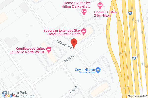 Mapped location of Home2 Suites by Hilton Clarksville Louisville North