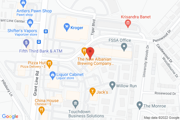 Mapped location of New Albanian Brewing Co.
