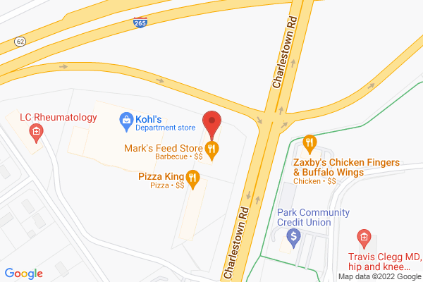 Mapped location of Mark's Feed Store Bar-B-Q Southern Indiana