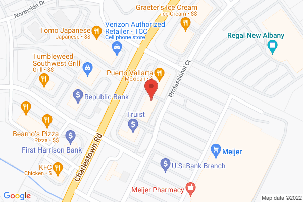 Mapped location of Coffee Crossing