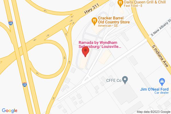 Mapped location of Ramada by Wyndham Sellersburg/Louisville North