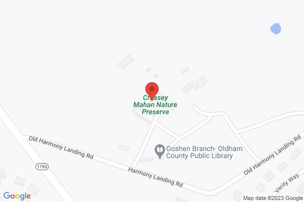 Mapped location of Grant's Giving 5K/3K at Creasey Mahan