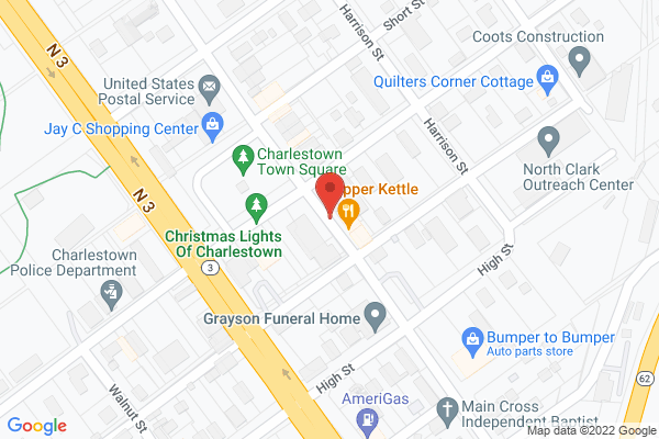 Mapped location of Dave & Peg's Copper Kettle