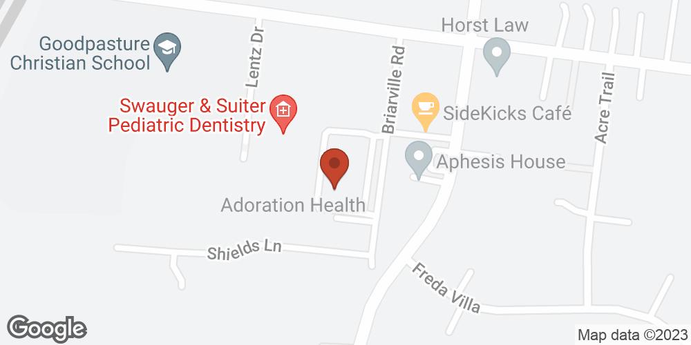 Google Map of Adoration Hospice – Nashville, Tennessee