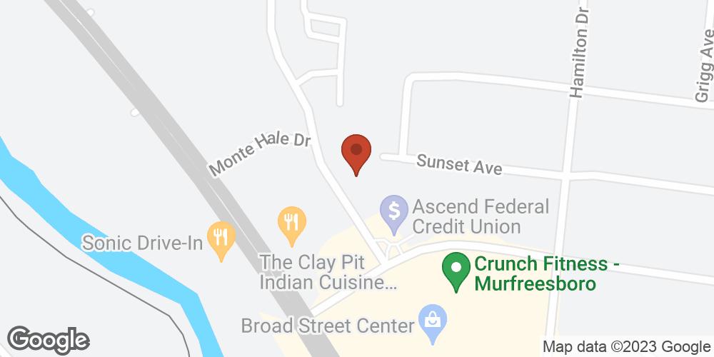 Google Map of Adoration Hospice – Murfreesboro, Tennessee