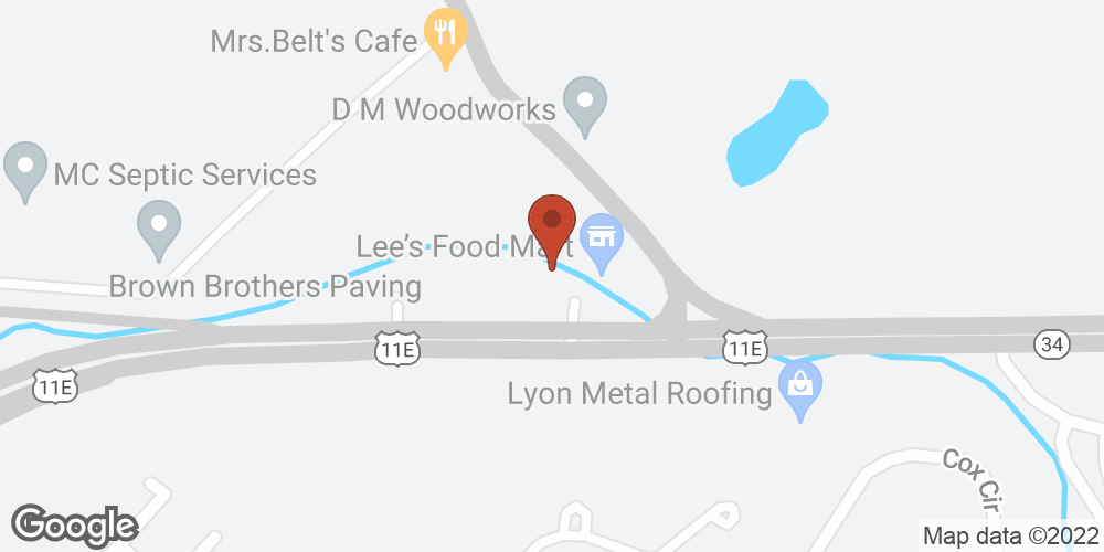 Google Map of Adoration Home Health – Greeneville, Tennessee