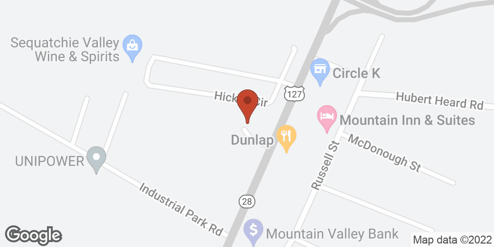 Google Map of Adoration Home Health – Dunlap, Tennessee