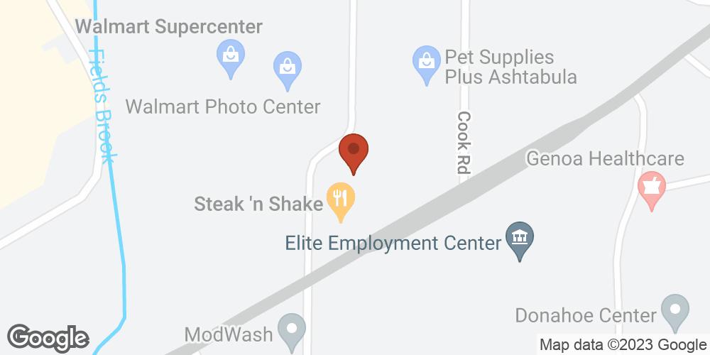 Google Map of Adoration Hospice – Ashtubula, Ohio