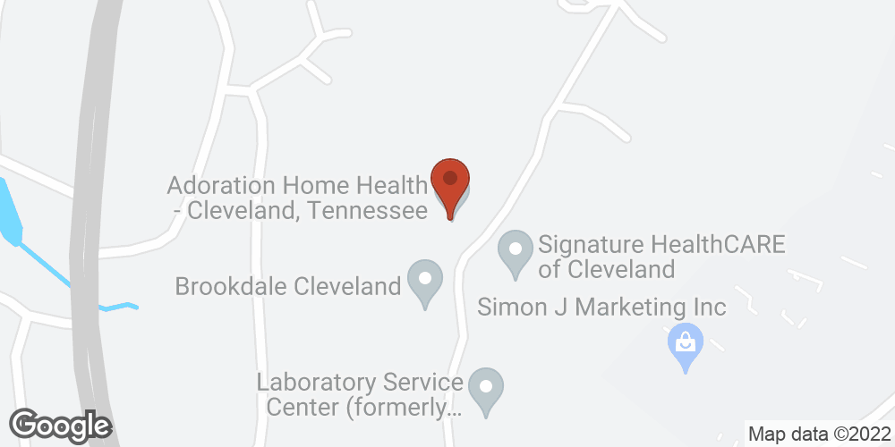 Google Map of Adoration Home Health – Cleveland, Tennessee