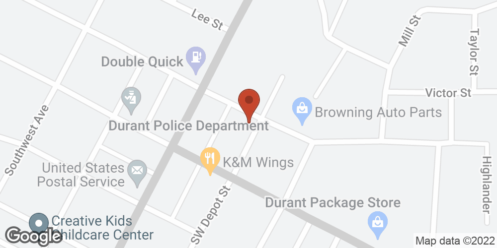 Google Map of Adoration Home Health – Durant, Mississippi