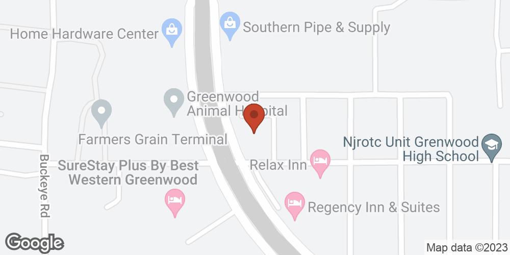 Google Map of Adoration Home Health – Greenwood, Mississippi