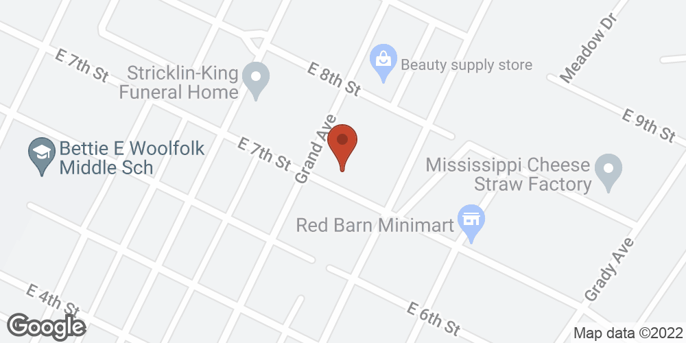 Google Map of Adoration Home Health – Yazoo City, Mississippi
