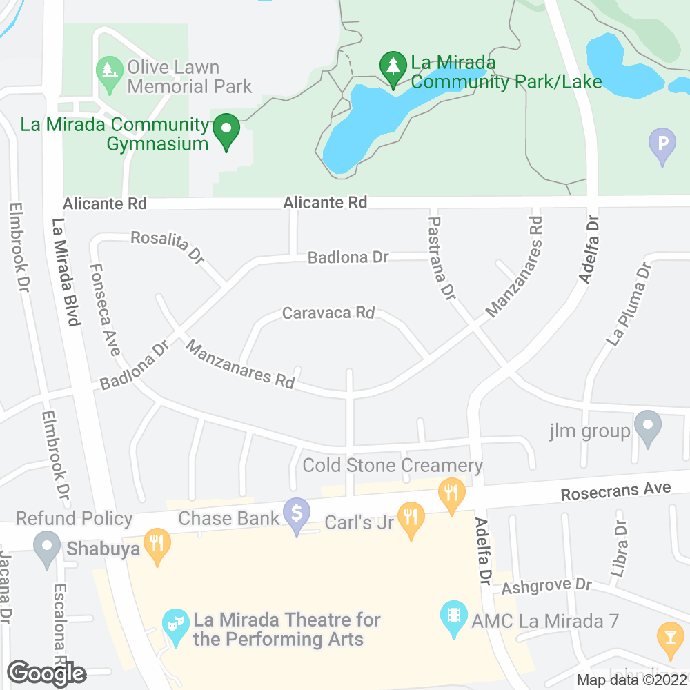 Google Map of OnePoint Patient Care – La Mirada, CA