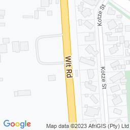 Map of Hoër Tegniese Skool Springs