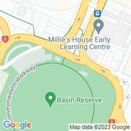 Map of Basin Reserve,Wellington.