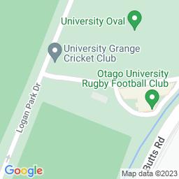 Map of University Oval, Dunedin.
