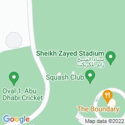 Map of Sheikh Zayed Cricket Stadium (Abu Dhabi)