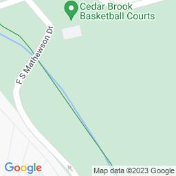 Map of Cedar Brook Park, Plainfield, New Jersey