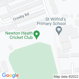Map of Newton Heath CC, Greaves Field