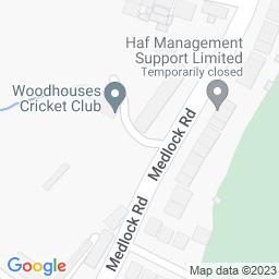 Map of Woodhouses CC, Belfields