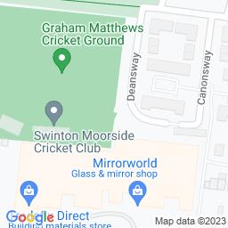 Map of Swinton Moorside CC, The Graham Matthews Cricket Ground