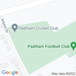 Map of Padiham Cricket Club Ground